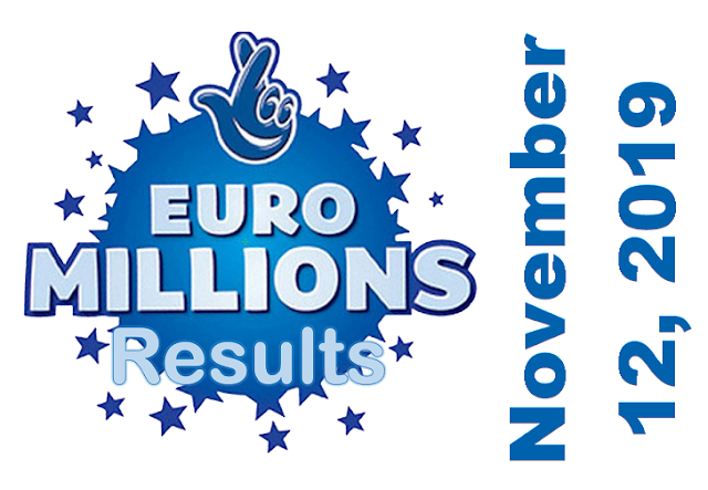 EuroMillions Results for Tuesday, November 12, 2019