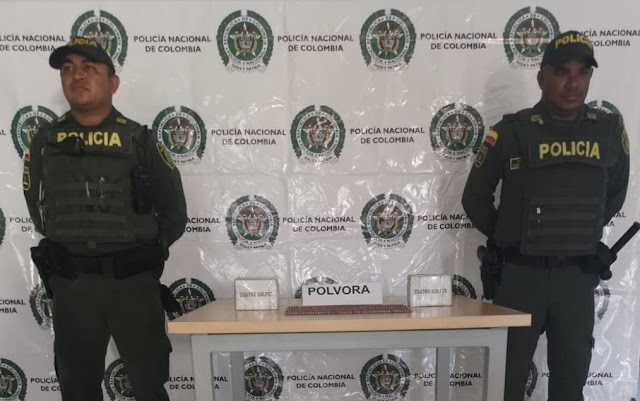 Departamento de Policía Guajira incauta pólvora e impone comparendo en Riohacha