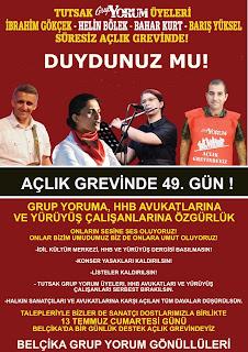 grup yorum gönüllüleri belçika açlık grevi