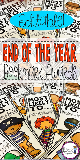 End of the Year Award Bookmarks are the awards students treasure long after the last school bell!