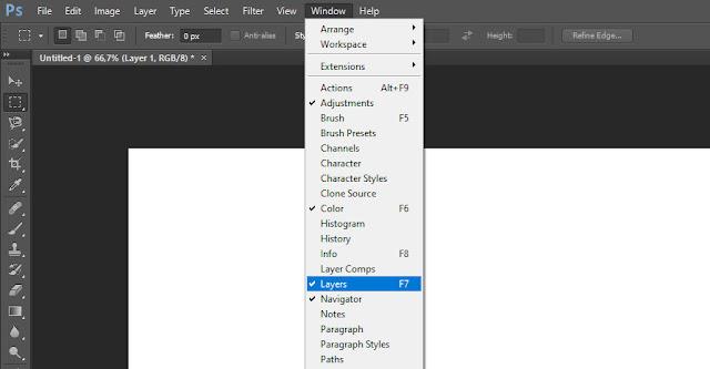 Cara Menampilkan Tab Layers Yang Hilang di Photoshop