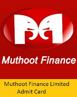 Muthoot Finance Limited Admit Card 2017