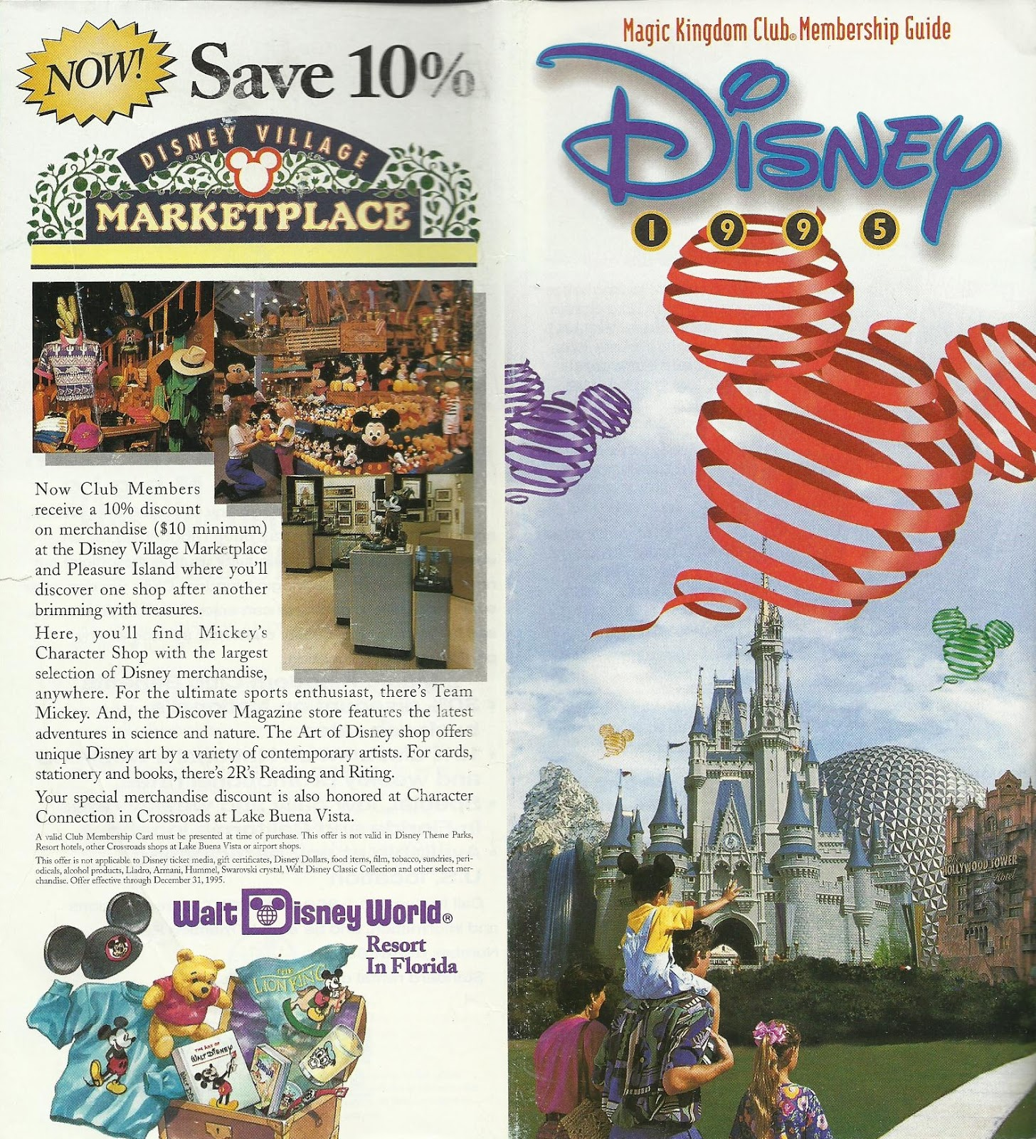 Disney Vacation Kingdom 1995 Magic Kingdom Club