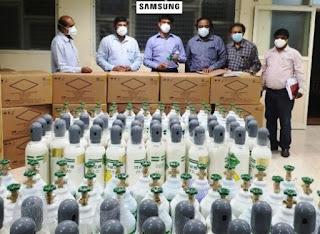 samsung india providing aid to karnatka to fight against covid-19