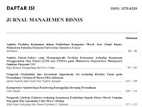 Contoh Kumpulan Jurnal Manajemen Dan Bisnis Pdf Download