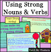 Using specific nouns in writing, #iteach #tpt