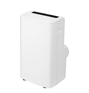 A white small air conditioning unit