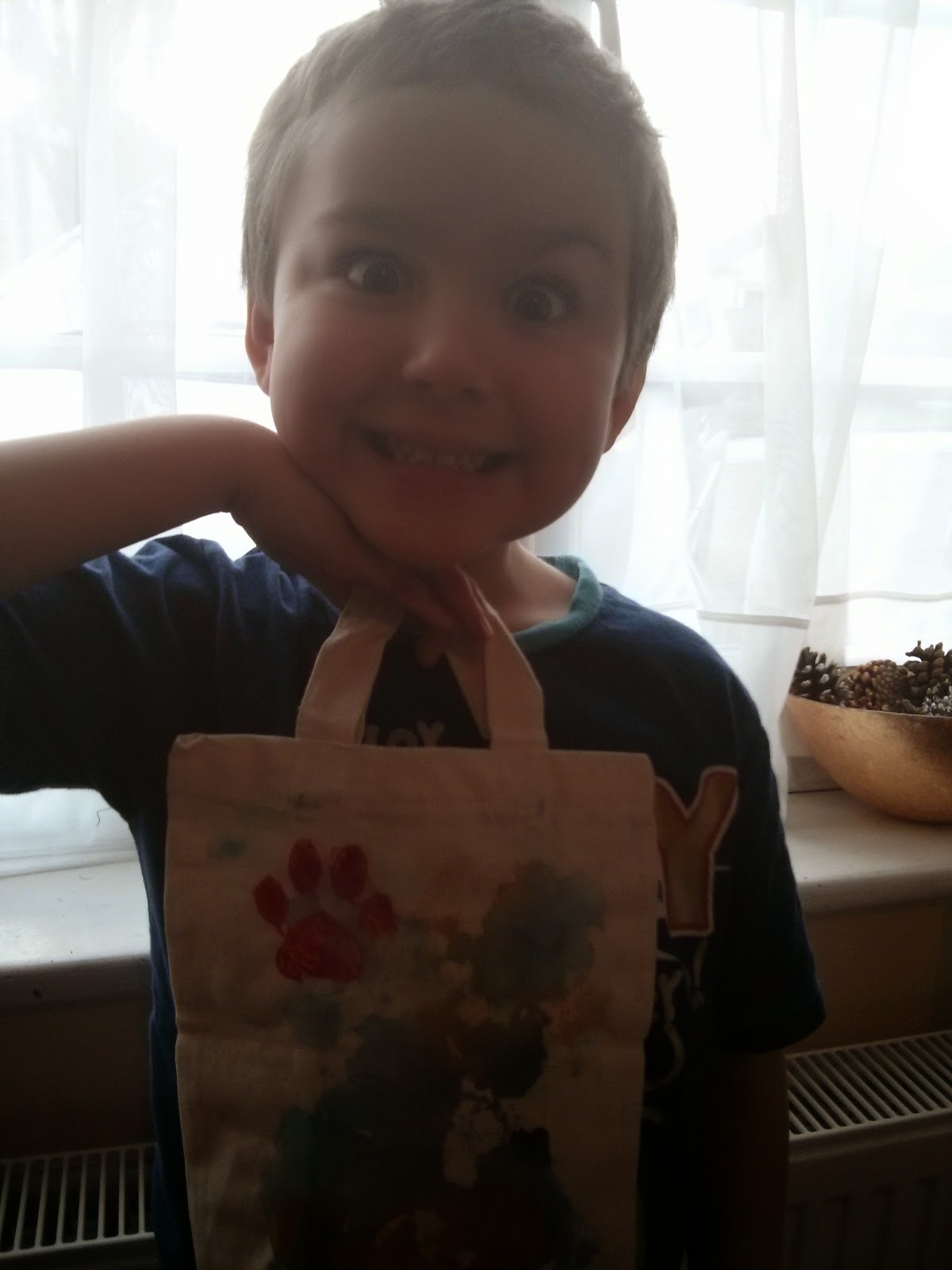 Big Boy and his Toucan Box Bag