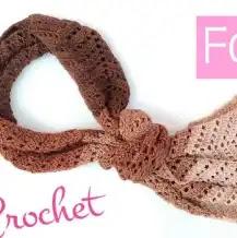 Bufanda o Estola a Crochet