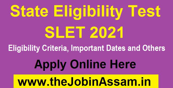 State Eligibility Test (SET) 2021