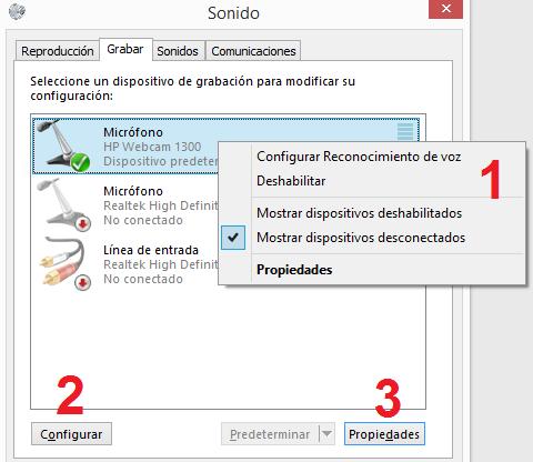 Windows: Configurar micrófono