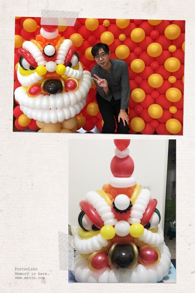 氣球新年場地佈置-舞龍舞獅