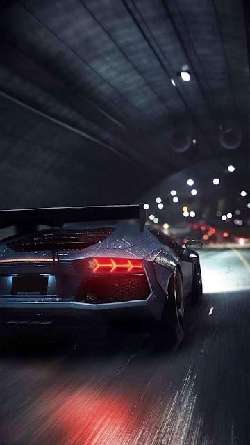 Lamborghini In Tunnel iphone wallpaper