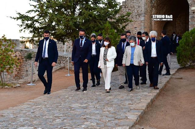 Ναύπλιο: Στο κάστρο του Παλαμηδίου η Πρόεδρος της Δημοκρατίας