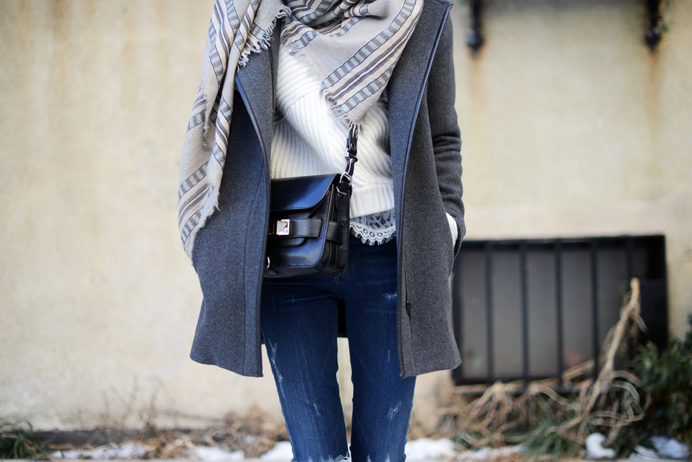 Oversized scarf and Acne Studios Jensen Boots / FOREVERVANNY.com