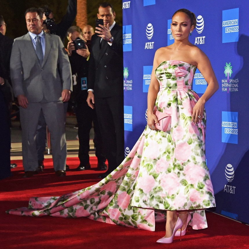 Jennifer Lopez is ultra regal at the Palm Springs Film Festival Gala
