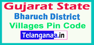 Bharuch District Pin Codes in Gujarat State