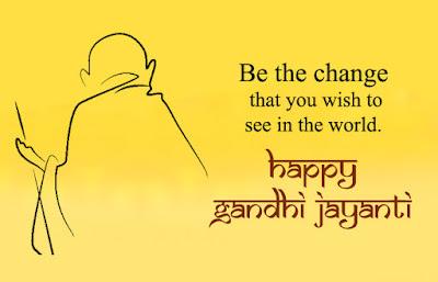 good morning happy gandhi jayanti images