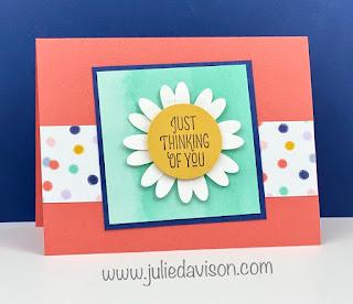 World Cardmaking Day: Free Mini Stamp-a-Stack Online Class ~ Stampin' Up! Designer Paper Sale ~ Many Mates ~ www.juliedavison.com #stampinup #wcmd2020 #worldcardsendingweek2020 #SU2020WCMD