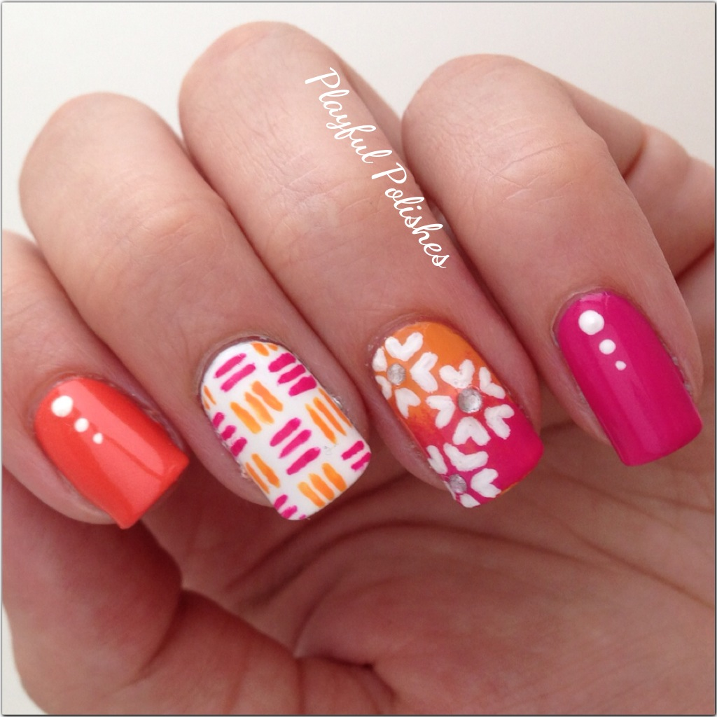 Playful Polishes: MIX & MATCH SPRINGTIME NAILS
