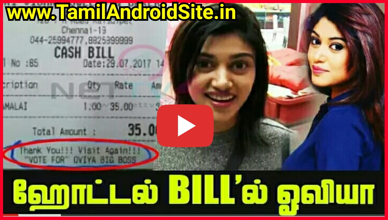 Colors website bigg boss 9 voting - Viral Video Bigg Boss Vote For Oviya In Restaurant Bill Goes Viral In Social Media Oviya Army Save Oviya Most Watching And Share Everyone