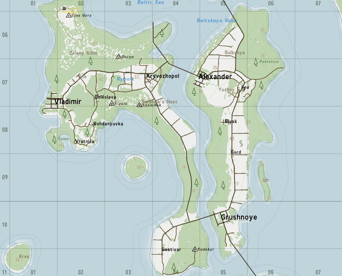 DayZ Origins Brasil: Mapa de Taviana depois da Atualização