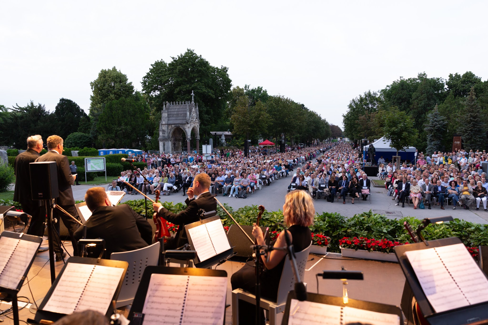 Open air concert in Vienna central cemetery