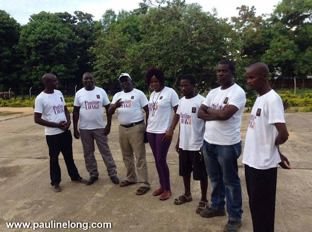 Pauline Long Show Delivers food in Malawi