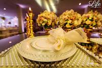casamento com decoração em ouro rosê rose gold e flores em tons pastéis com organização decoração e cerimonial de life eventos especiais em porto alegre