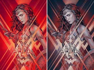 Wonder Woman Movie Poster Screen Print by Martin Ansin x Bottleneck Gallery