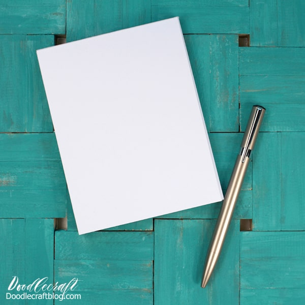 Make your own notepads to keep lists, memos and to-do's organized using paper and Mod Podge.