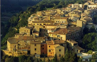 Canino sits on a hillside in the Province of Viterbo