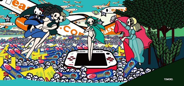 Botticelli - The Birth of Venus with Baci, Esselunga, Barilla, PSP and EasyJet, Tomoko Nagao (2012)