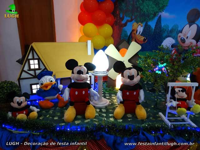 Decoração infantil tema Mickey Mouse - Mesa de festa de aniversário