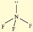 bentuk senyawa NF3