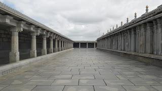 The wide quadrangle inside the temple