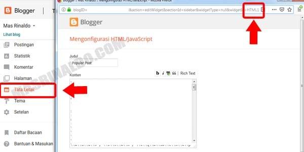 Panduan Cara Membuat Sticky Sidebar di Blogger Agar Widget Melayang 2