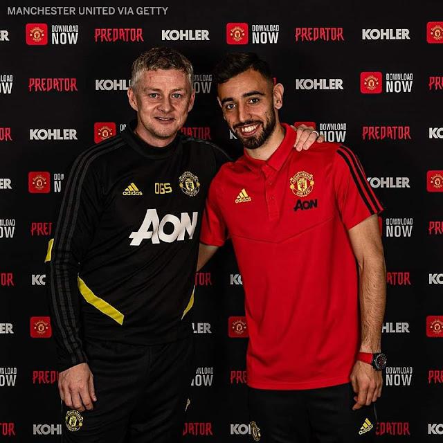 Bruno Fernandes Milik Manchester United