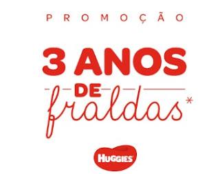 Cadastrar Promoção 3 Anos Fraldas Huggies Grátis - Participe de Graça
