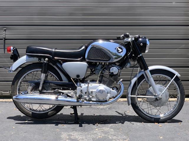 Honda CB77 1960s Japanese classic motorcycle