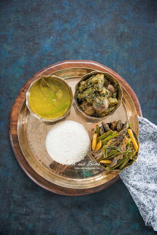 Bengali lunch thali