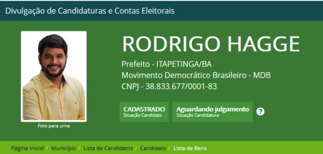 Candidato MDB Rodrigo Hagge