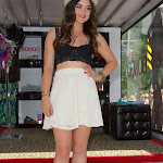 LUCY HALE CHECKS OUT HER LACY BOSOM AT THE BONGO POP UP BOUTIQUE