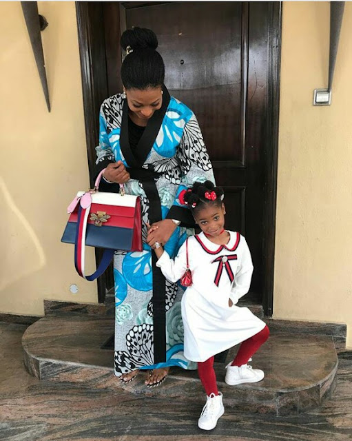 Ibidun Ighodalo steps out for church with her adorable daughter