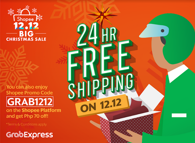 GrabExpress Same-Day-Delivery Shopee 12.12