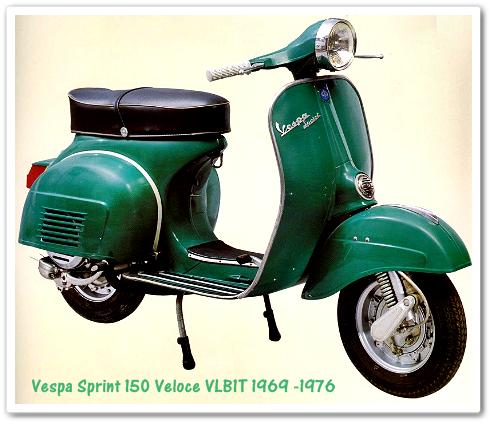 Vespa Sprint 150 Veloce Produksi Tahun 1969 - 1976