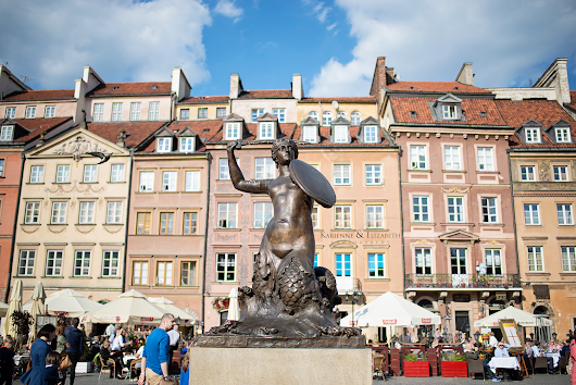 Warsaw Old Town, Poland - 3rd May 2015