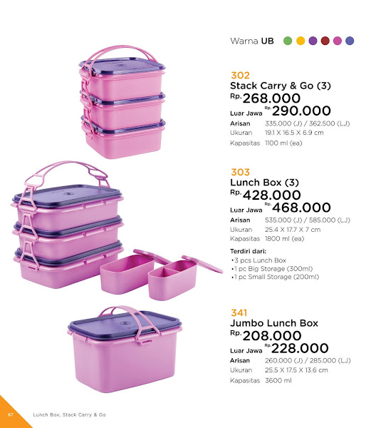 Stack Carry Go, Jumbo Lunch Box, Katalog Tulipware 2019