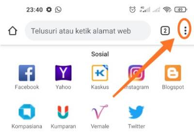 Cara mengaktifkan cookie di ponsel Android