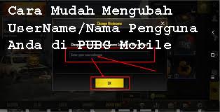 Cara Mudah Mengubah  UserName/Nama Pengguna Anda di PUBG Mobile